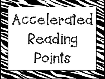 Accelerated Reading Points Poster AR
