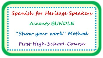 "Accents BUNDLE - ""show your work"" method"