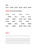 """A"" Sight Words Worksheet"