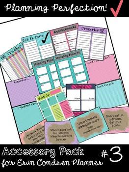 Accessory Pack #3 for Erin Condren Teacher Planner