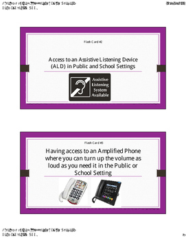 Accommodation Flash Cards for Students with Hearing Loss f