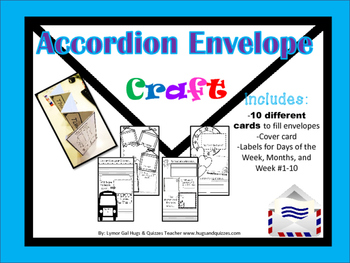 Accordion Envelope CRAFT book!  Great for beginning or thr