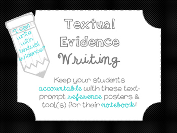 "Accountable Common Core ""Textual Evidence"" Writing Referen"