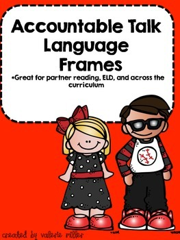 Accountable Talk Language Frames (Student Cards)