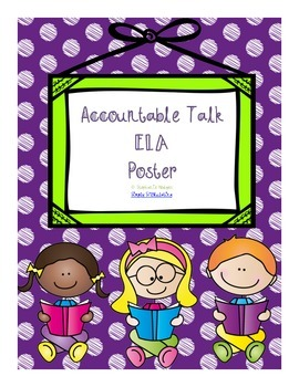 Accountable Talk Poster ELA