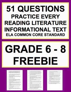 Common Core ELA Questions for Reading Literature & Informa