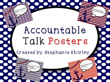 Accountable Talk Posters {Nautical Themed}