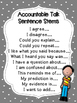 Accountable Talk Posters & Sentence Stems - Gray & White P