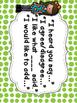 Accountable Talk Posters & Sentence Stems - Green Chevron & Dots