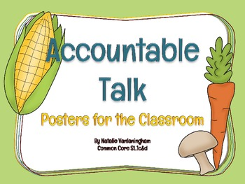"""Accountable Talk: Posters for a """"Healthy"""" Discussion (Comm"""