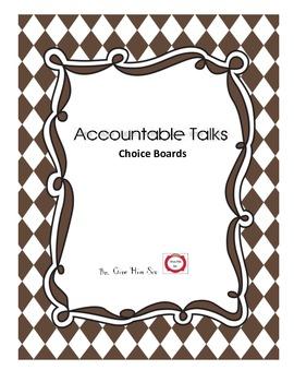Accountable Talks- Choice Boards