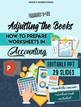 Accounting PowerPoint-Adjusting the Books/Work Sheets
