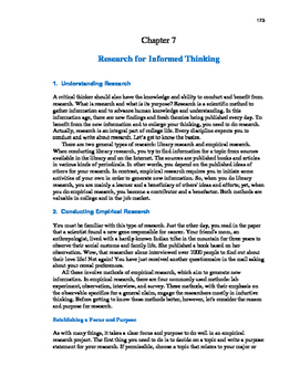 Ace Critical Thinking 7: Researching for Informed Thinking