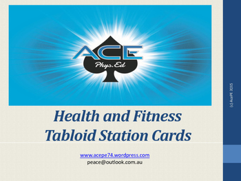 AcePE Health and Fitness Tabloid Station Cards