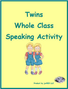Acheter and Préférer French verbs Jumeaux 2 Speaking activity