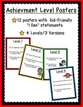 Achievement Level Posters