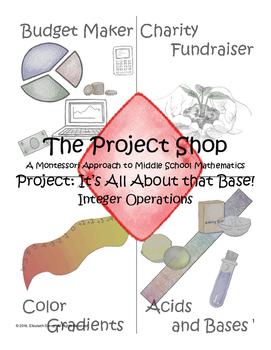 Acid Base Project for Montessori Middle School Math: Integ