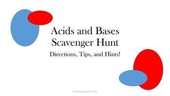 Acid Base Scavenger Hunt Overview Power Point