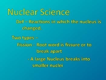 Acid and Base/ Nuclear science Powerpoint