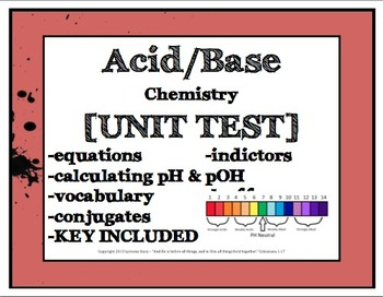 Acid Base Test Exam [EDITABLE, with KEY]