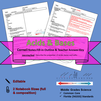 Acids & Bases Cornell Notes #39