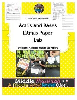 Acids and Bases Litmus Paper Lab