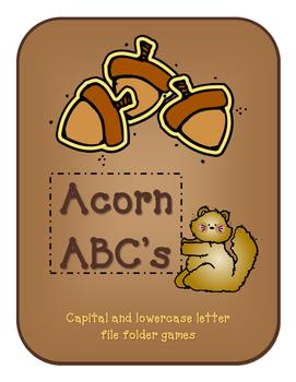 Acorn ABC's file folder games