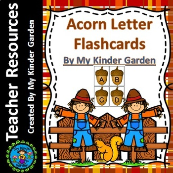 Acorn Alphabet Letter Flashcards Uppercase and Lowercase