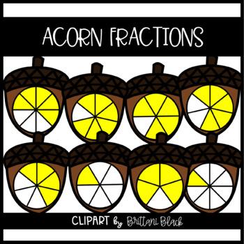 Acorn Fractions~ Clipart
