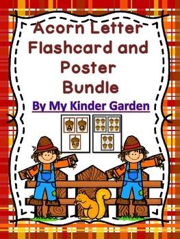 Acorn Letter Flashcard and Poster Alphabet Bundle