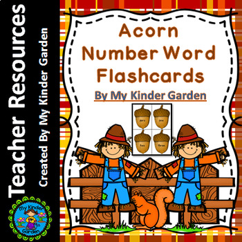 Acorn Number Word Flashcards 0-100