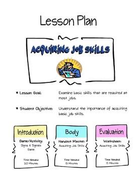 Acquiring Job Skills Lesson