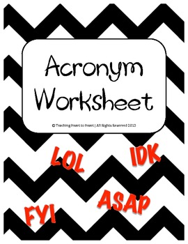 Acronym Worksheet