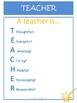 Acrostic Poem Examples for T.E.A.C.H.E.R as a Free Thank Y