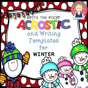 WRITE THE ROOM for Winter {NO PREP}