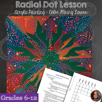 Acrylic Painting - Radial Symmetry Dot Lesson