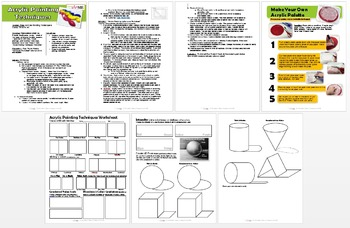 Acrylic Painting Techniques Lesson Plan & Worksheet - UPDA