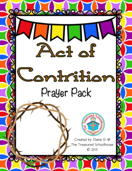 Act of Contrition Prayer Pack