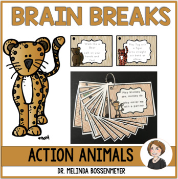 Action Animals Brain Break Cards