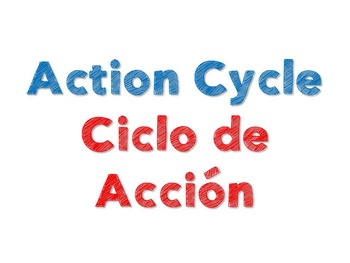 Action Cycle- Bilingual, Green Frame