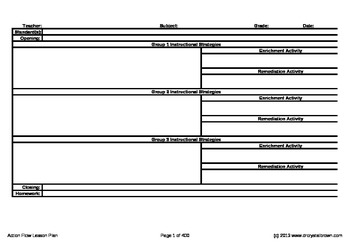 Action Flow Lesson Plan Template