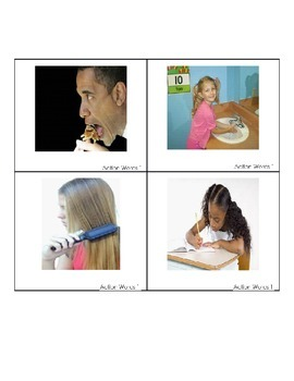 Action Identification Words List 1 for Autism and Speech Therapy