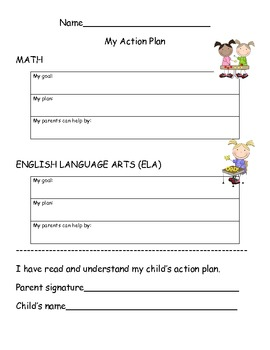 Action Intervention Form for Math/ELA