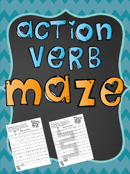 Action Verb Maze and Verb Sort