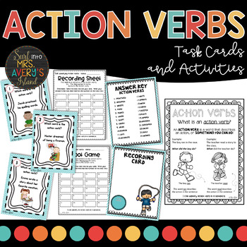 Grammar:  Action Verb Task Cards