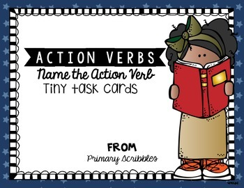 Action Verb Tiny Task Cards