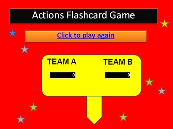 Action Verbs Flashcards PowerPoint Interactive Game (Lower