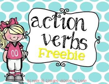 Action Verbs Freebie