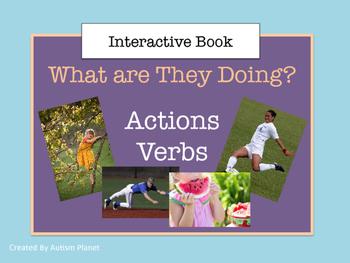 Action Verbs:  Language Interactive Book