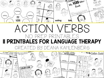 Action Verbs {No Prep Practice}
